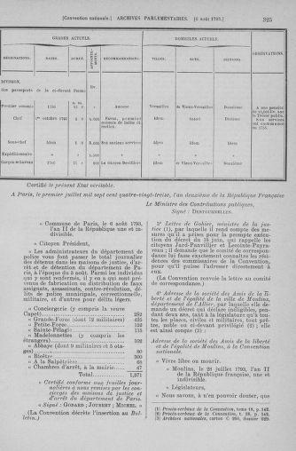 Tome 70 : Du 30 juillet au 9 août 1793 - page 325
