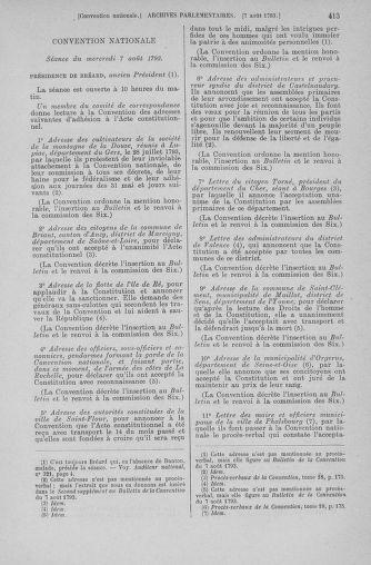 Tome 70 : Du 30 juillet au 9 août 1793 - page 413