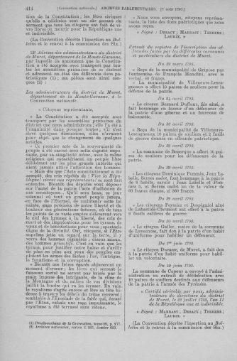 Tome 70 : Du 30 juillet au 9 août 1793 - page 414