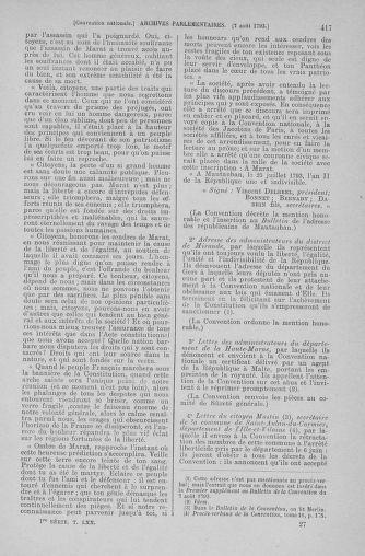 Tome 70 : Du 30 juillet au 9 août 1793 - page 417