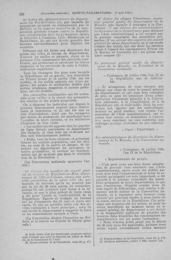 Tome 70 : Du 30 juillet au 9 août 1793 - page 420