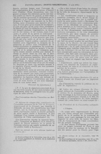 Tome 70 : Du 30 juillet au 9 août 1793 - page 422