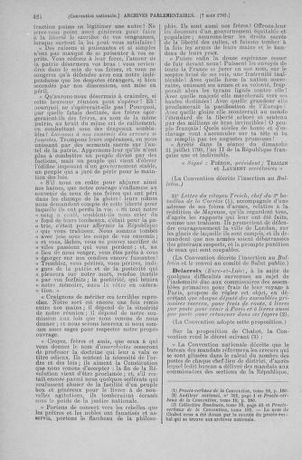 Tome 70 : Du 30 juillet au 9 août 1793 - page 424