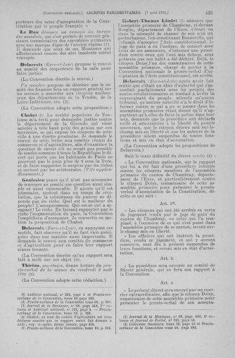 Tome 70 : Du 30 juillet au 9 août 1793 - page 425