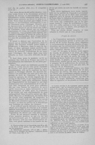 Tome 70 : Du 30 juillet au 9 août 1793 - page 427