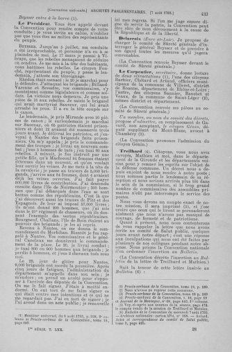 Tome 70 : Du 30 juillet au 9 août 1793 - page 433