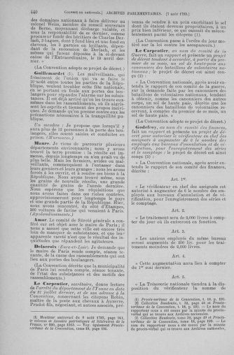 Tome 70 : Du 30 juillet au 9 août 1793 - page 440