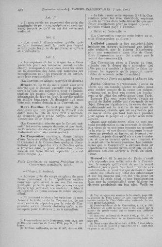 Tome 70 : Du 30 juillet au 9 août 1793 - page 442