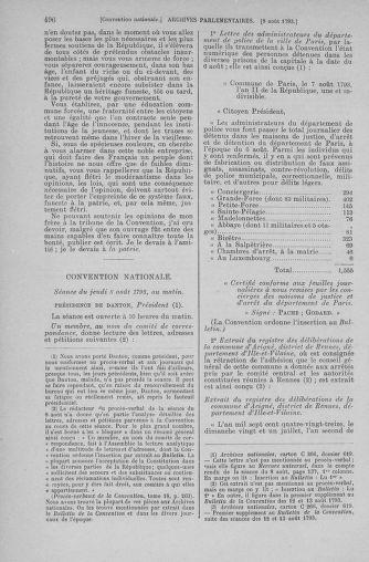 Tome 70 : Du 30 juillet au 9 août 1793 - page 496