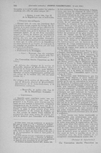 Tome 70 : Du 30 juillet au 9 août 1793 - page 506