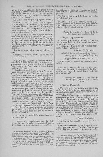 Tome 70 : Du 30 juillet au 9 août 1793 - page 516