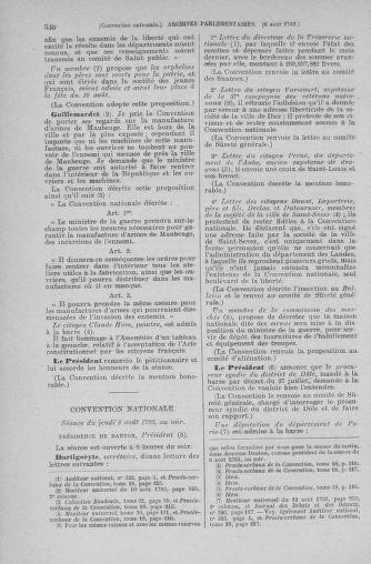 Tome 70 : Du 30 juillet au 9 août 1793 - page 530