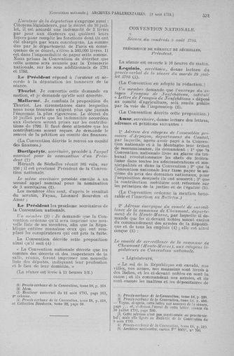 Tome 70 : Du 30 juillet au 9 août 1793 - page 531