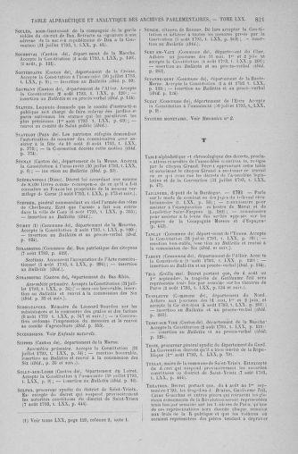 Tome 70 : Du 30 juillet au 9 août 1793 - page 821