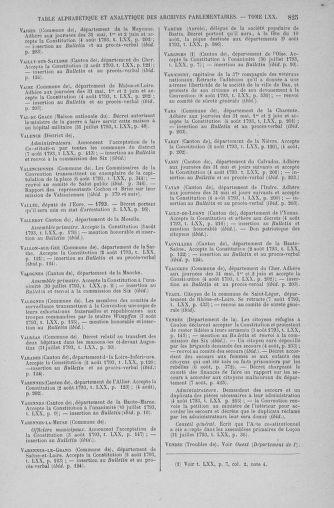 Tome 70 : Du 30 juillet au 9 août 1793 - page 825
