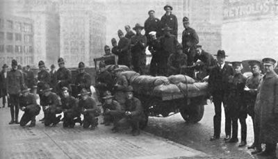 Discharged soldiers after World War I