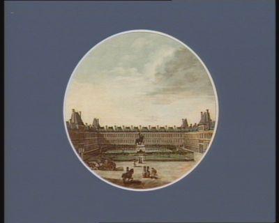 Vue de la place Royale et de la statue equestre de Louis XIII, elevée en 1639 : [estampe]
