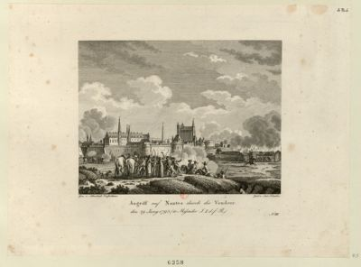 Angriff auf Nantes durch die Vendeer den 29 Juny <em>1793</em>... : [estampe]