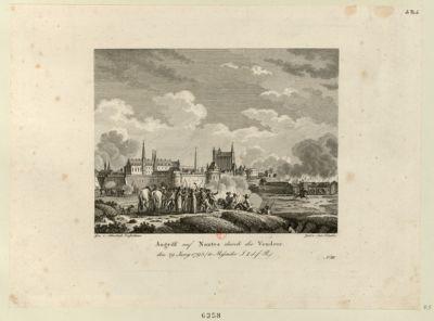 Angriff auf Nantes durch die Vendeer den 29 Juny 1793... : [estampe]