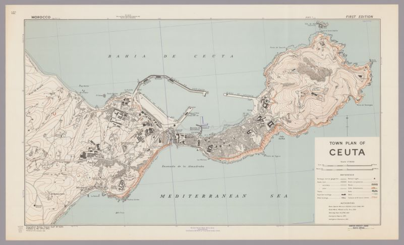 Town plan of Ceuta