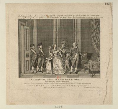Les  derniers adieux de Louis XVI à sa famille le 20 Janvier 1793 veille de son Execution : Encore ce dernier adieu, encore ce dernier embrassement... : [estampe]