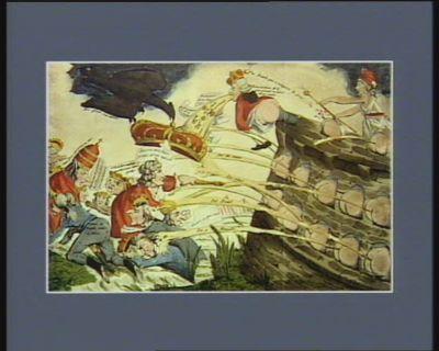 Bombardement des couronnes de l'Europe [estampe]