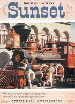 Sunset Magazine cover. May 1938