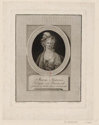 Maria Antonia Königin von Frankreich gebohren zu Wienn den 2 Novemb. <em>1755</em> : [estampe]