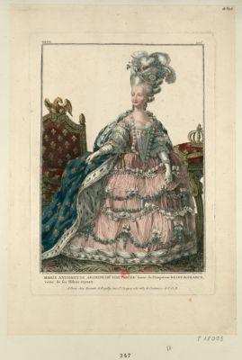 Marie Antoinette archiduch.e d'Autriche soeur de l'empereur reine de France vetue de ses hâbits royaux [estampe]
