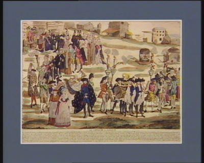 Le  Convoi de <em>la</em> <em>royauté</em> les jacobins de Strasbourg ont enterré avec grande pompe <em>la</em> <em>royauté</em>... : [estampe]