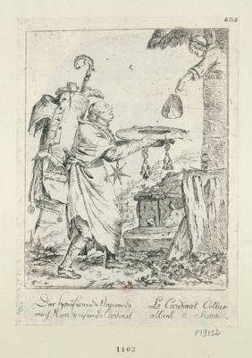 Le  Cardinal Collier allant a Rome [estampe]
