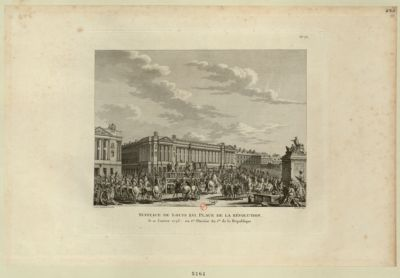 Supplice de Louis XVI , place de la Révolution le 21 janvier <em>1793</em> ou 1.er pluviôse an I.er de la République : [estampe]