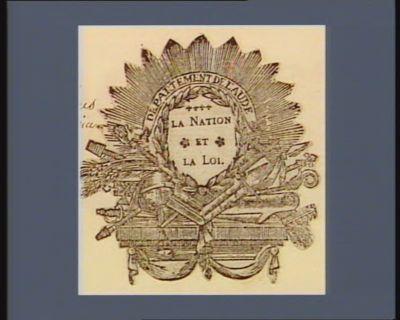 Département de l'Aude la Nation et la Loi : [estampe]