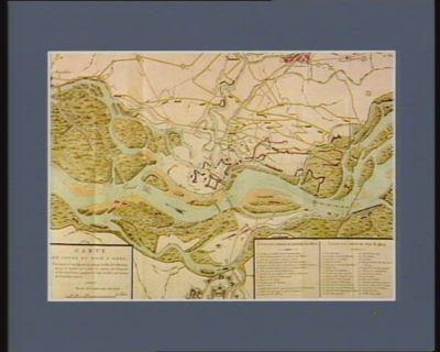 Carte du cours du Rhin a Kehl pour servir à l'intelligence du passage du Rhin du 6 messidor an 4, à laquelle on a joint les travaux des français et des autrichiens, pendant le siege de Kehl par l'armée de l'archiduc Charles... : [estampe]