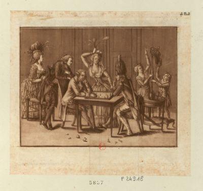 [La  Partie d'échecs] [estampe]