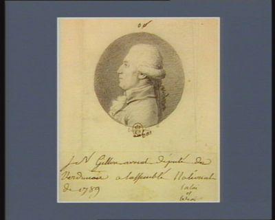 J.N. Gillon avocat député du Verdunois à l'Assemblée nationale de 1789 : [dessin]