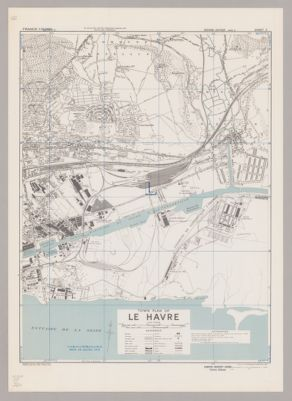 Town plan of Le Havre
