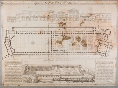Museo Vaticano. Pianta generale, 1817