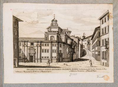 Chiesa di S. Maria in Campo Marzio, prospetto