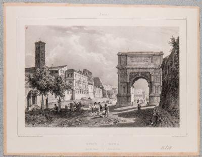 Arco di Tito, lato nord