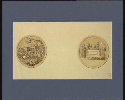 [Programme d'une médaille à frapper au sujet de l'assassinat des plénipotentiaires français à Rastadt par l'infâme Autriche] [dessin]