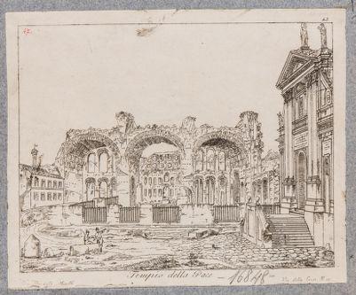 Basilica di Costantino, prospetto sul Foro