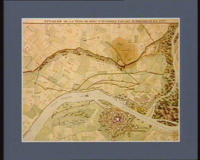Attaques de la tête de pont d'Huningue par les Autrichiens en 1797 [dessin]