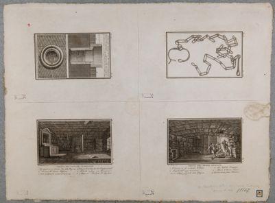 Carcere Mamertino, 4 tavole illustrative