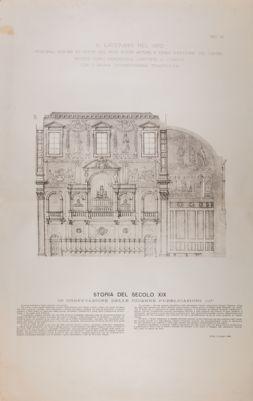 Chiesa di S. Giovanni in Laterano. Coro e cantorie, progetto 1870