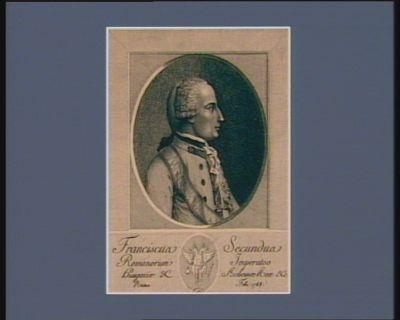 Franciscus secundus Romanorum Imperator Hungariae & Bohemae Rex &c natus febr. <em>1768</em> : [estampe]
