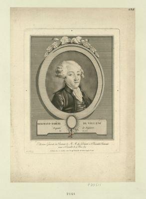 Bertrand Barère de Vieuzac député de Bigorre, né en 1755 : [estampe]