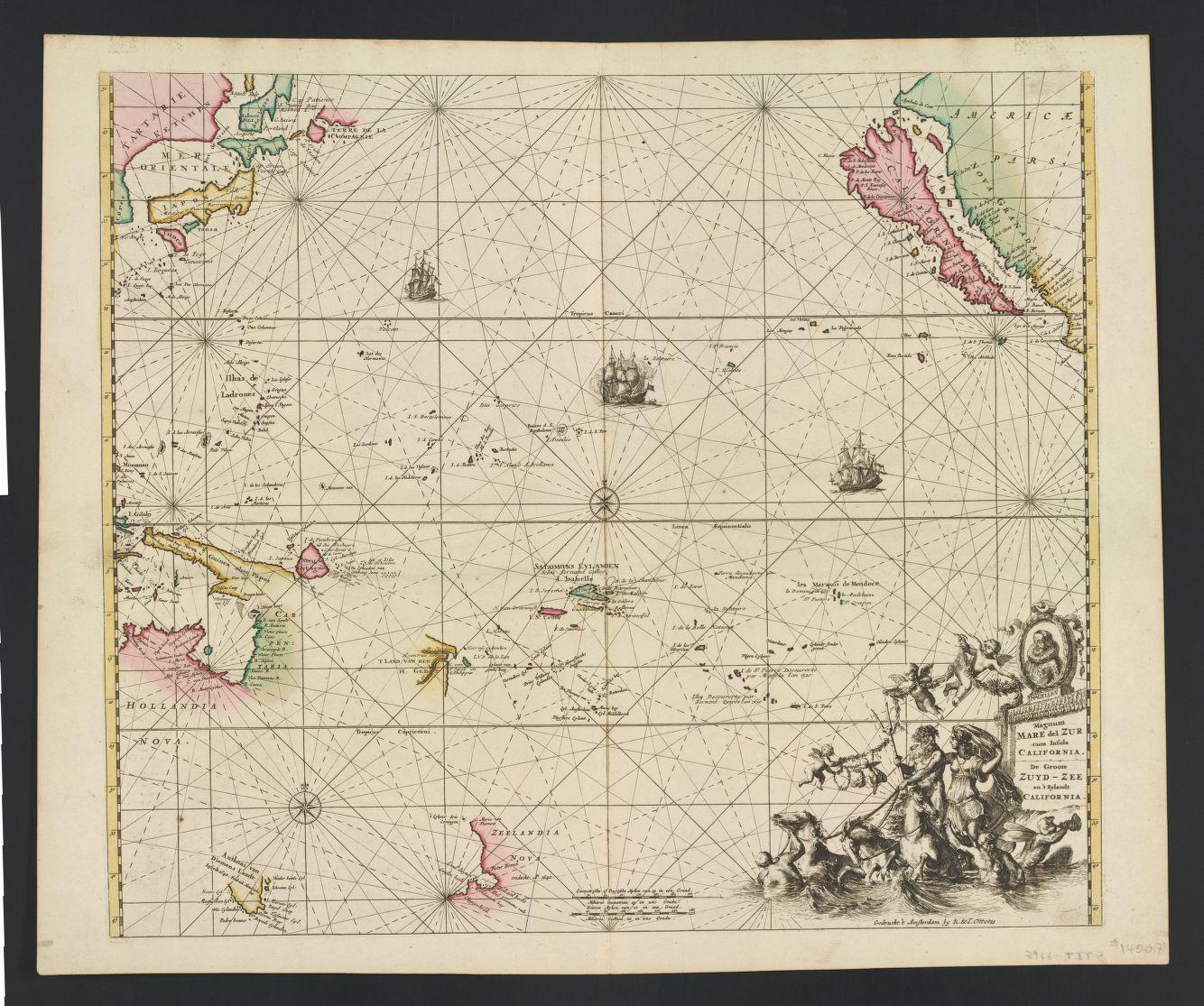 Magnum MARE del ZUR cum Insula CALIFORNIA. De Groote ZUYD-ZEE en't Eylandt CALIFORNIA (1745).