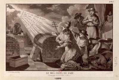 Le  Meâ Culpâ du pape [estampe]