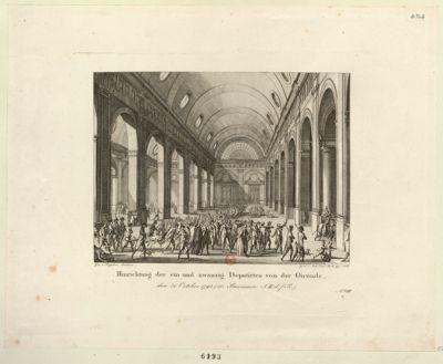 Hinrichtung der ein und zwanzig Deputirten von der Gironde [estampe]